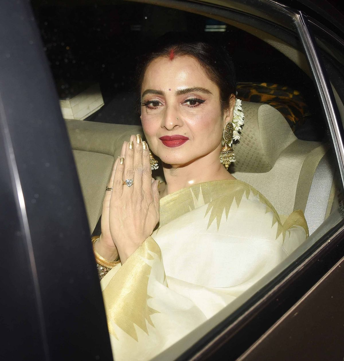 Rekha too attended the screening.