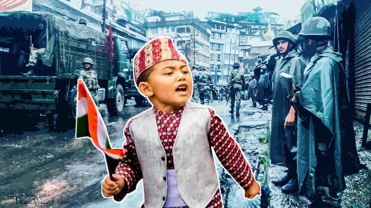 Gorkha kids join GJM rallies in Darjeeling, 28 June 2017.
