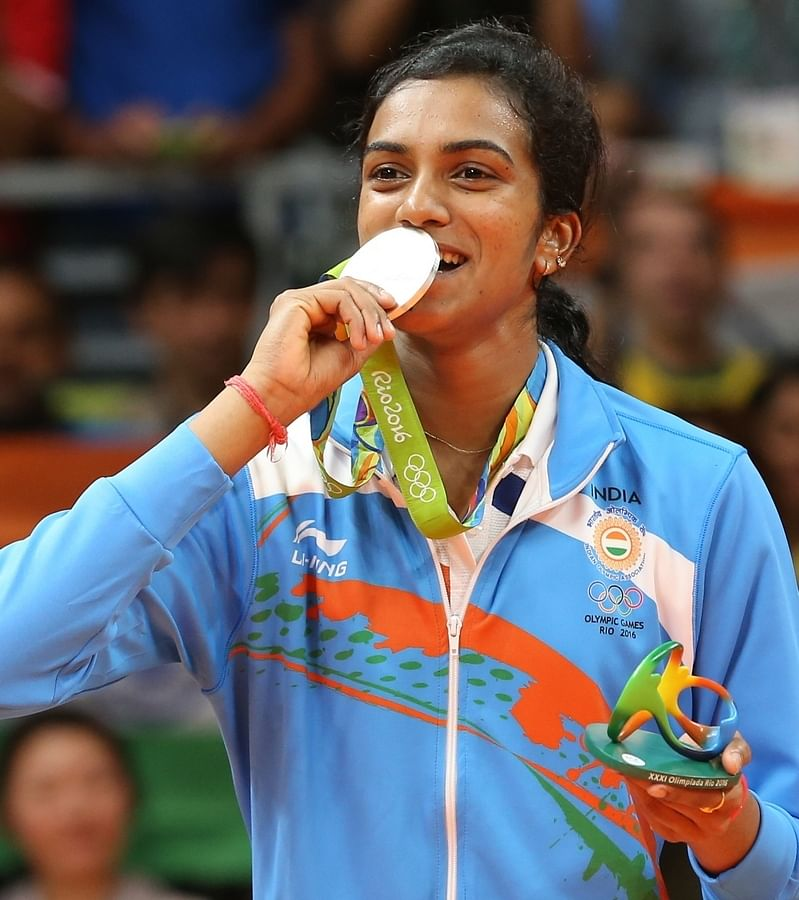 PV Sindhu clinched a silver medal at the Rio Olympics. (Photo: IANS)