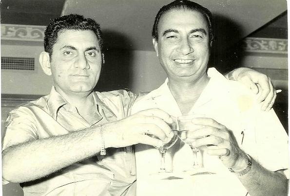 Anand Bakshi with Sahir Ludhianvi.