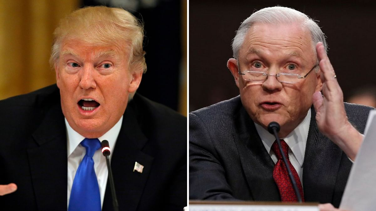 US President Donald Trump and Jess Sessions.