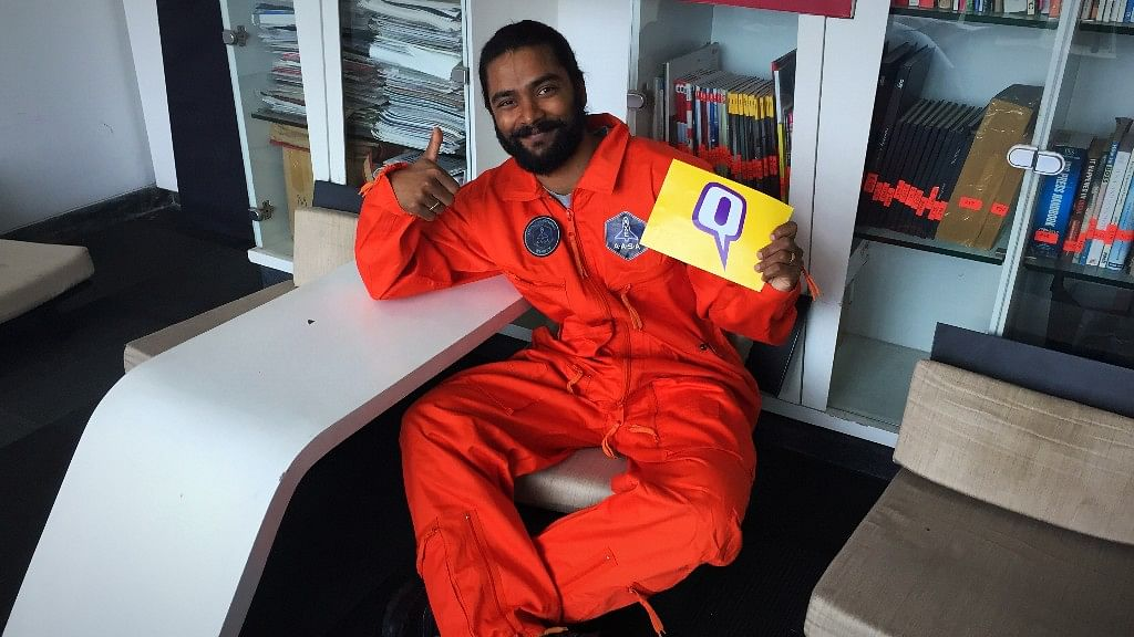 Vinay Singh is going to space.