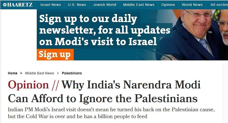 Here's How Israeli Media Covered PM Modi's 'Historic' Visit