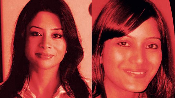 Indrani Mukerjea (L) and Sheena Bora (R). (Photo: <b>The Quint</b>)