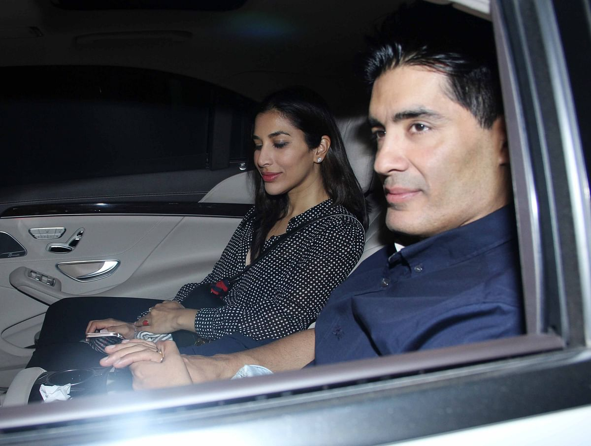 Sridevi's friend and designer Manish Malhotra was there for the screening.