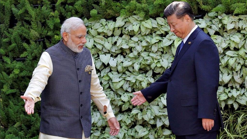 PM Modi with Chinese President Xi Jinping.