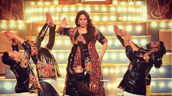 Geeta Kapur during a performance.