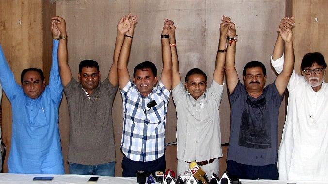 Congress MLAs in Rajkot.