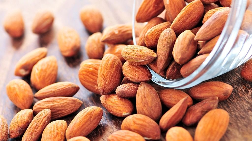 Almonds are perfect evening munchies.