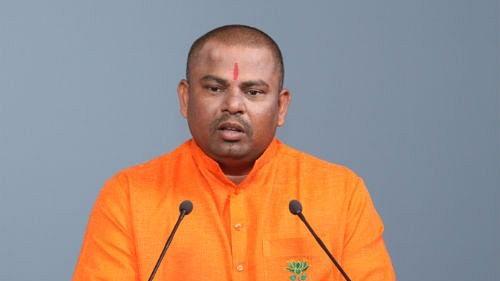 BJP MLA from Hyderabad, T Raja Singh Lodh.