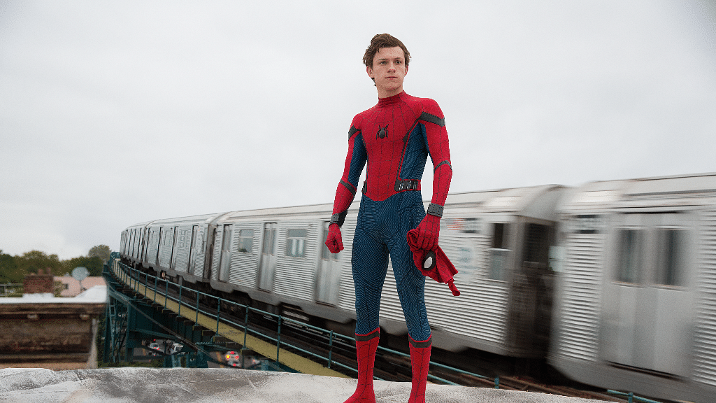 Tom Holland in a still from <i>Spider-Man: Homecoming</i>.