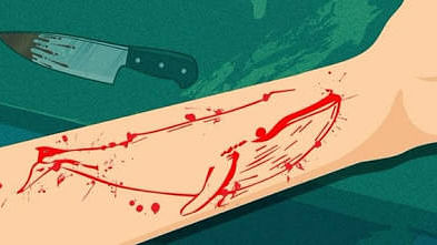 """The """"Blue Whale Challenge"""" often results in the player committing suicide, the final step in the 'game'."""