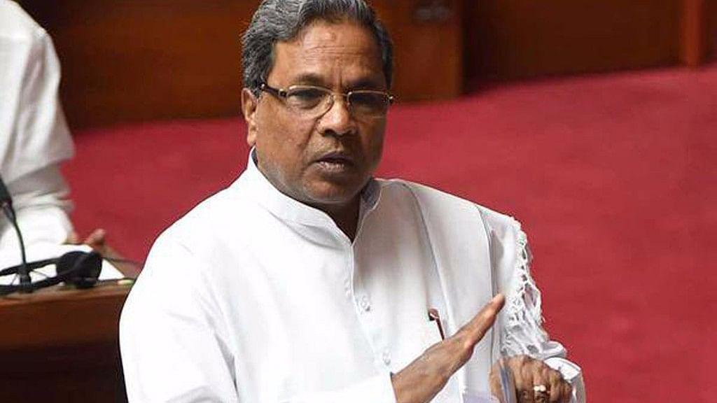Siddaramaiah, Chief Minister of Karnataka, at the state Legislative Assembly