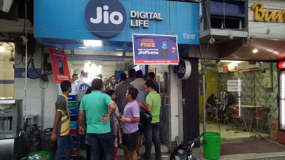 JioPhone customers at Gandhinagar.