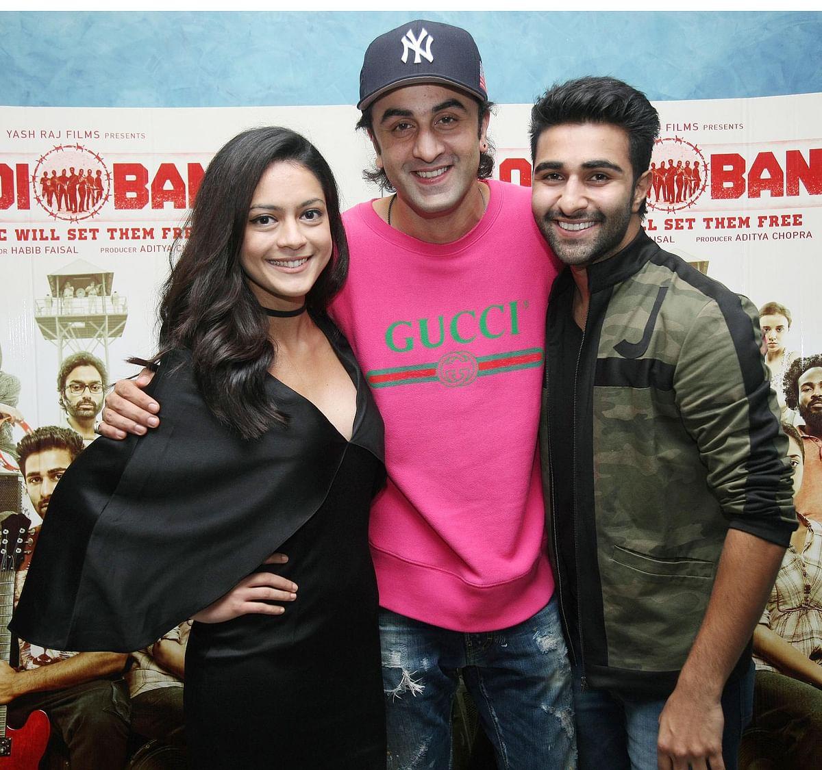 Ranbir cheers for Aadar andd Anya Singh.