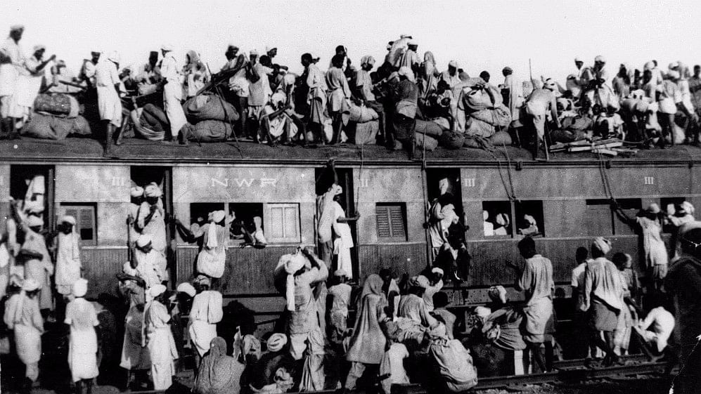 In this September 1947 photo hundreds of Muslim refugees crowd on top a train leaving New Delhi for Pakistan. Image used for representational purposes.
