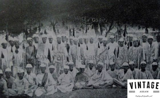 Black Flag demonstration by thousands of Congress volunteers against Viceroy Irwin as a part of the Civil Disobedience Movement at Gymkhana Club, Jorhat (January, 1931).