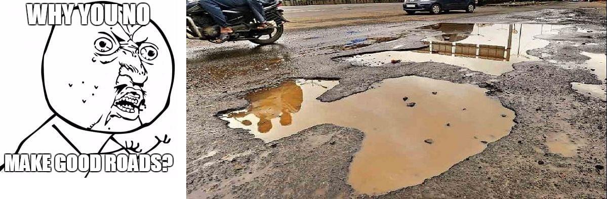 SUVs can handle potholes better than sedans.