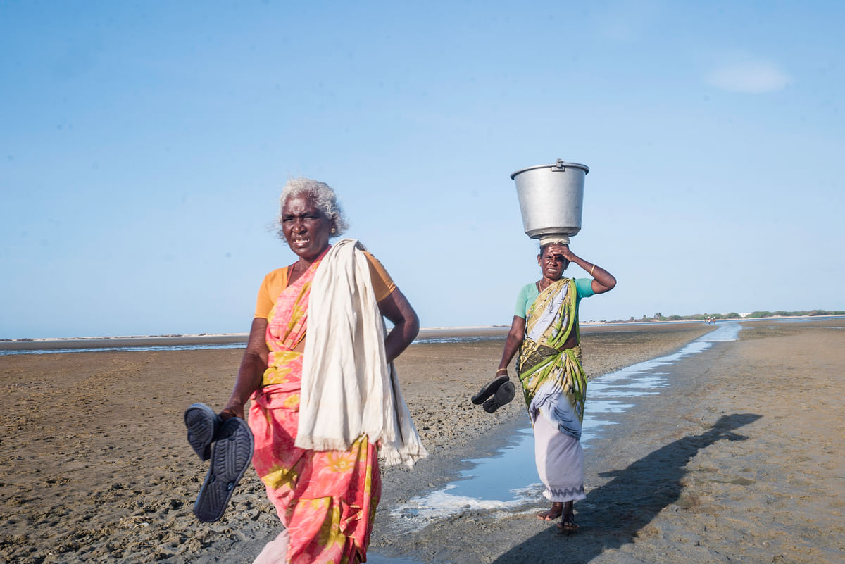 The life of fisher women is harsh and vulnerable in Dhanushkodi. While the marriage of a girl is seen as the most important aspect of her life, the abandoned women receive no respect in society and hardly go for a second marriage.