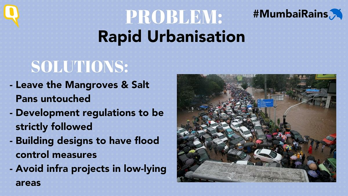 Solutions to tackling indiscriminate urbanisation that leads to flooding.
