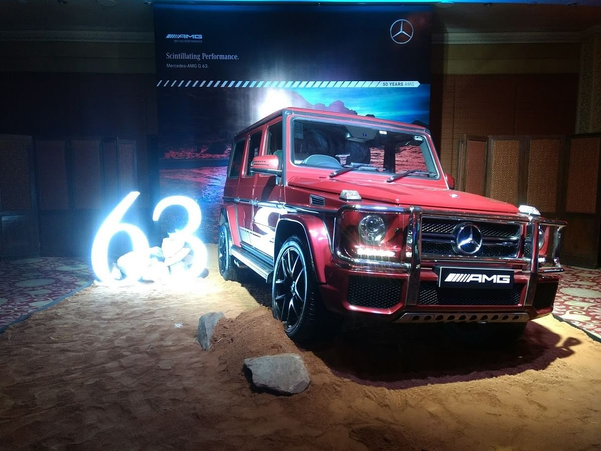 Mercedes G63 AMG looks quite intimidating on the road.