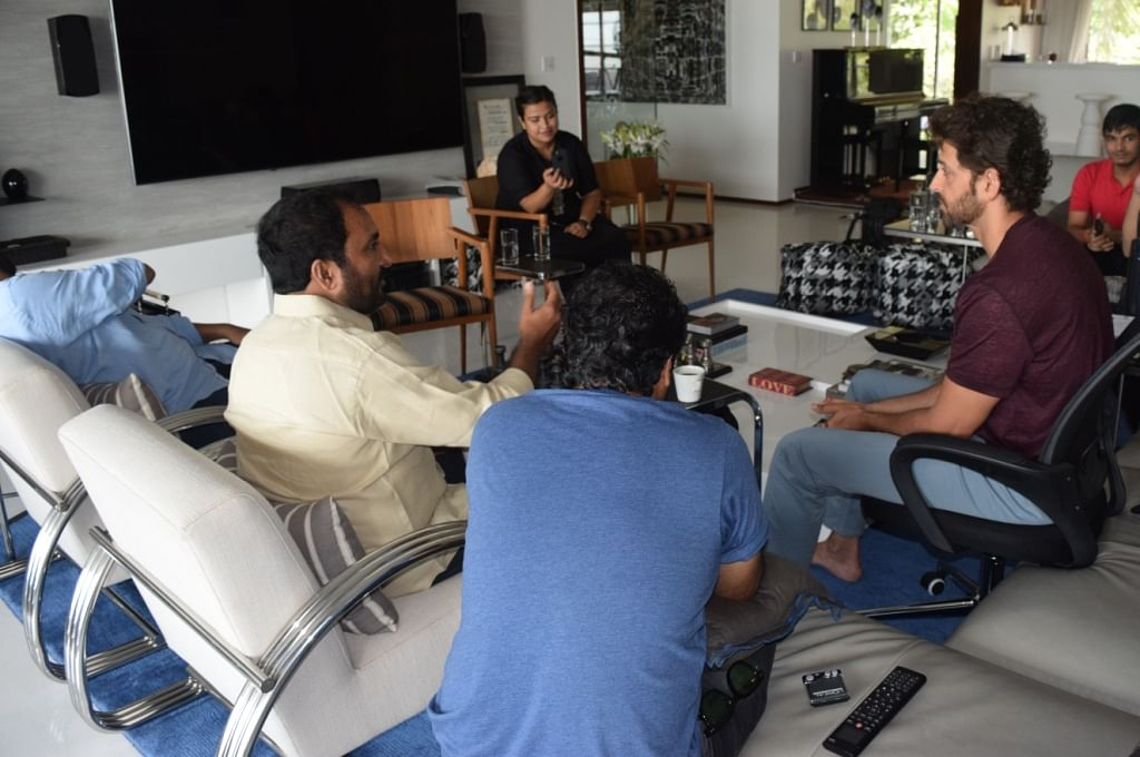 Anand in a session with Hrithik Roshan in Mumbai.