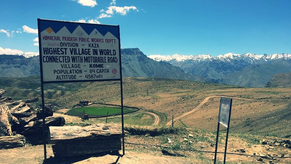 Komik, one of the world's highest villages with a road.