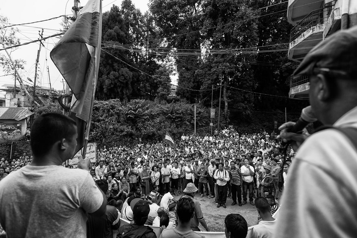 Rally in Kalimpong.