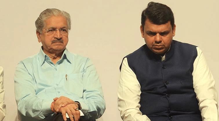 Maharashtra Industries minister Subhash Desai with CM Devendra Fadnavis.