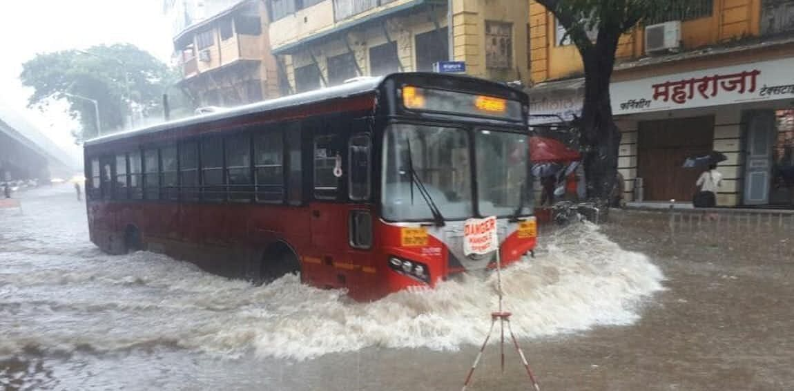 BEST sails through Mumbai floods.