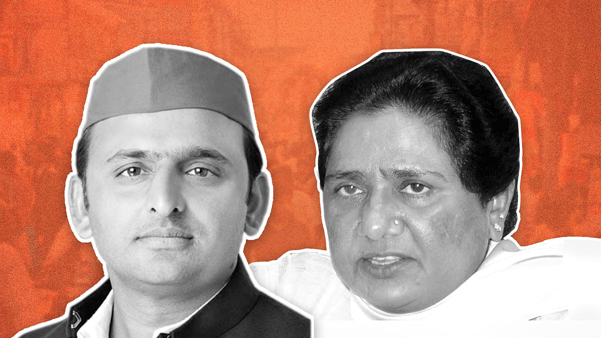 SP and BSP chiefs Akhilesh Yadav and Mayawati.