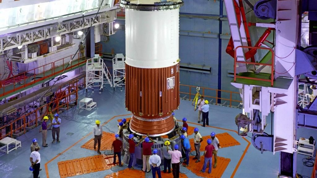 File photo of ISRO getting ready for the launch of the IRNSS-1H satellite.