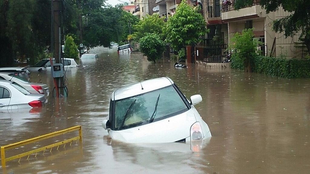 Chandigarh Flooded: Commuters Stranded Due to Heavy Rains
