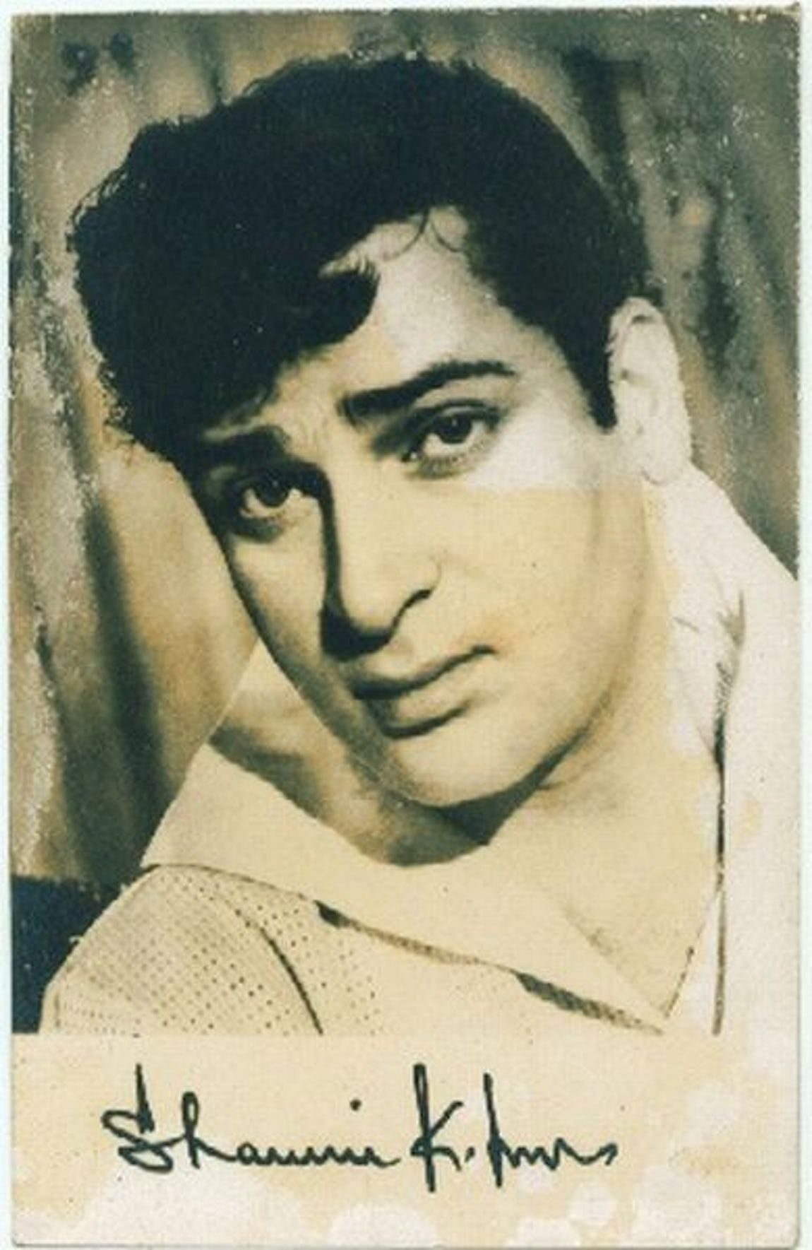 An autographed photograph of Shammi Kapoor.