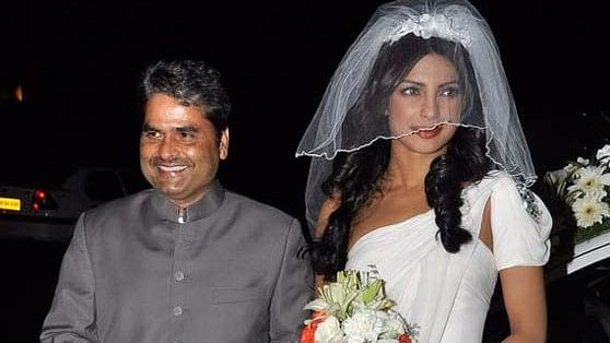 Filmmaker Vishal Bhardwaj with Priyanka Chopra.