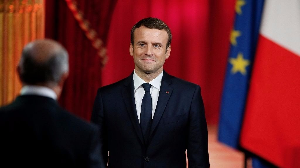 File photo of French President Emmanuel Macron.