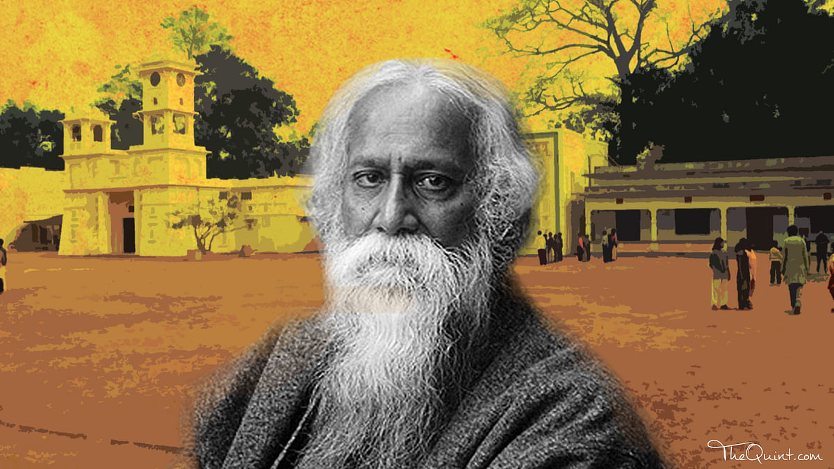 Why did Tagore's Visva Bharati, envisoned as global institution, turn out to be state-run centre of learning?