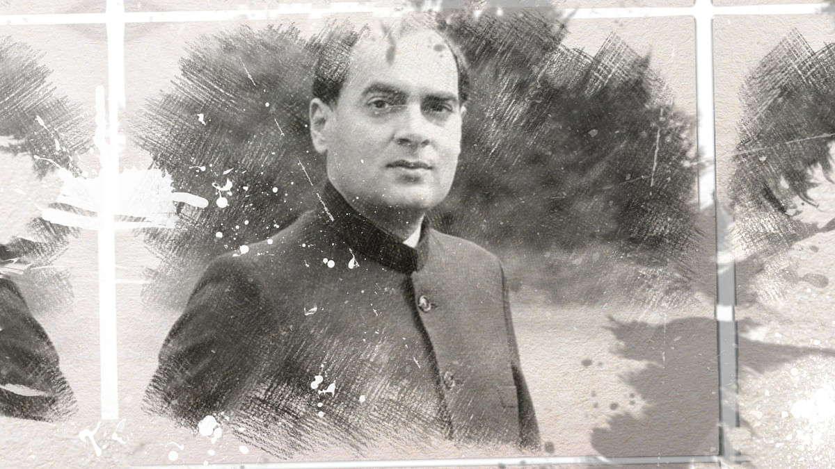 Former prime minister Rajiv Gandhi.