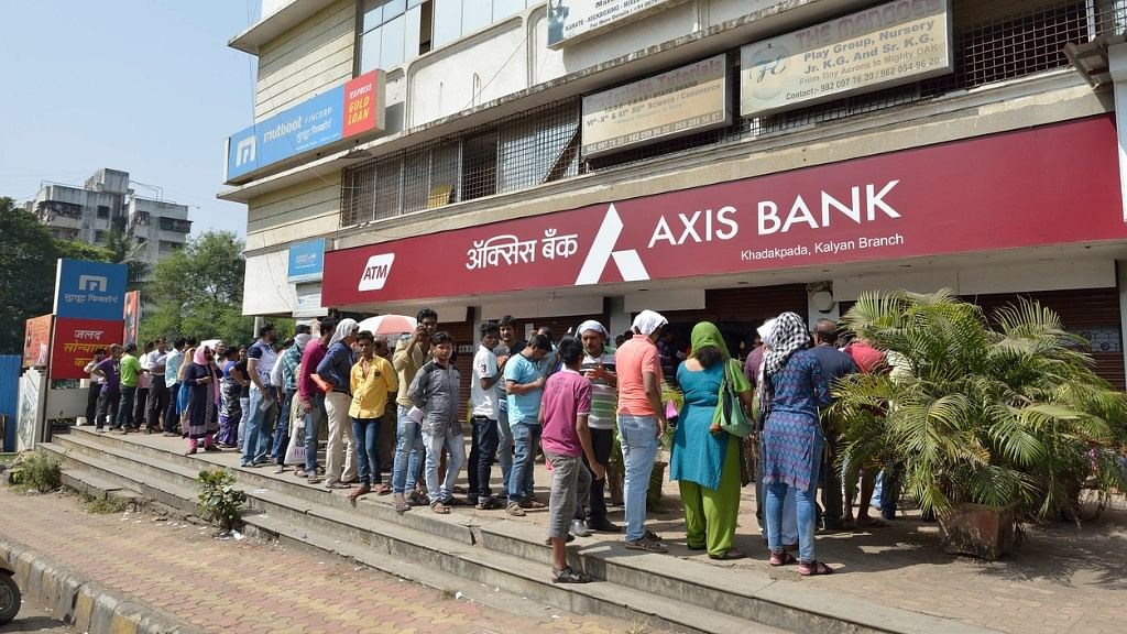 Long queues outside banks and ATMs became a daily affair during demonisation.