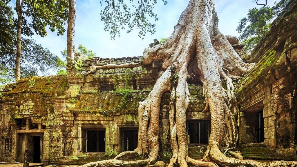 Angkor Wat, Cambodian Temple.