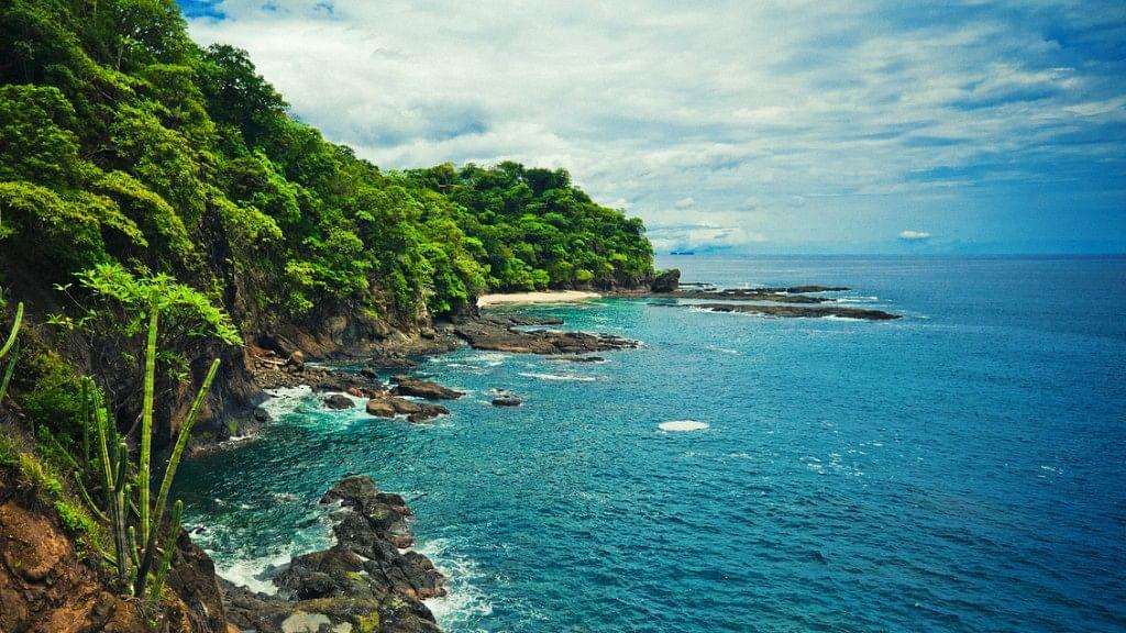 Costa Rica coastline.