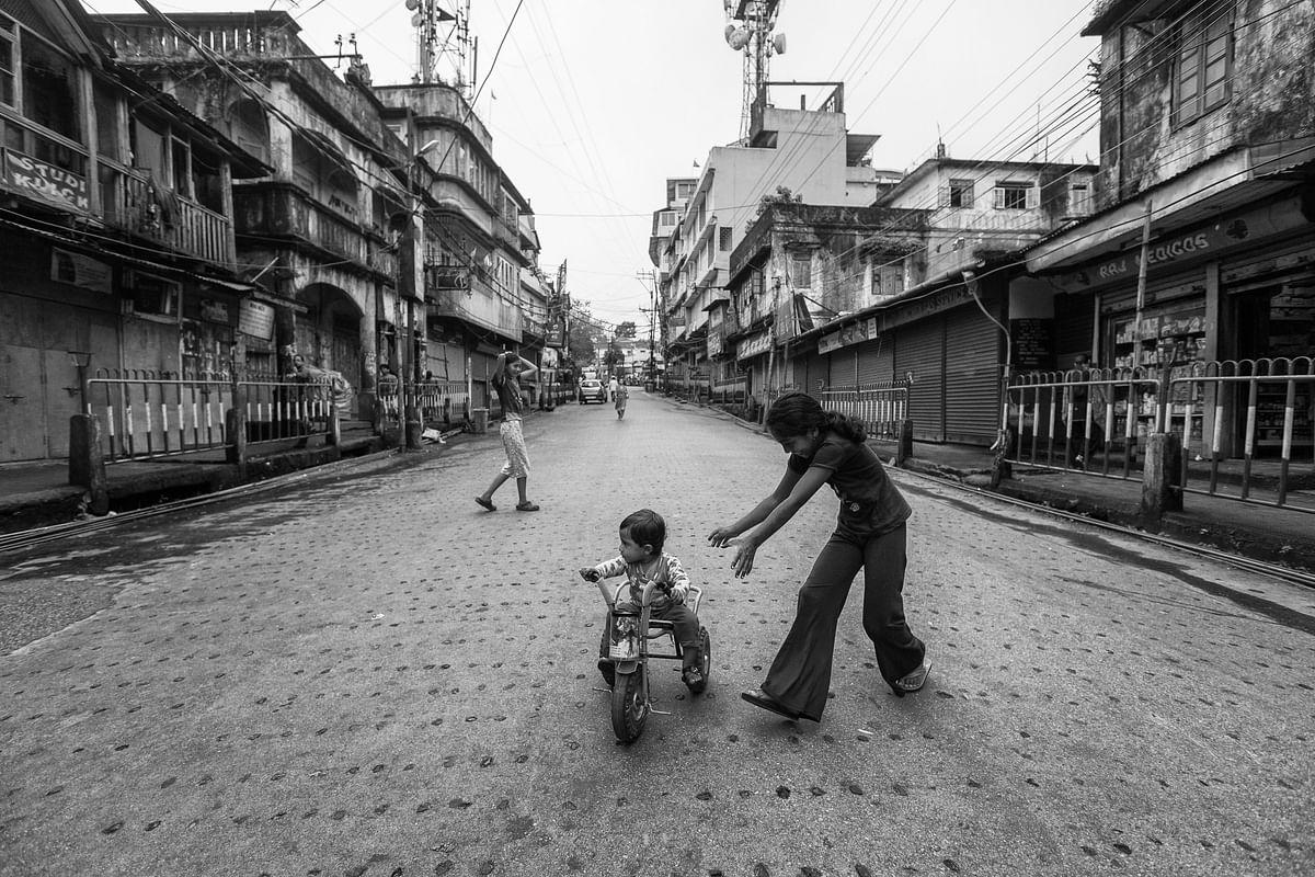 An empty Street in Kalimpong.