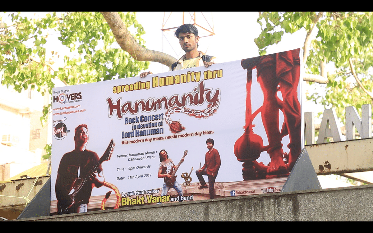 The poster of the 'Hanumanity' concert.