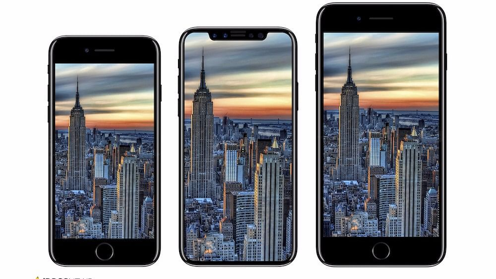 The iPhone 8 could look like the one in middle.
