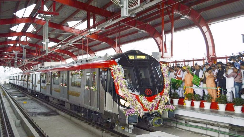 The CM's office posted a 2.27-minute video about the Lucknow metro on its official Twitter handle.