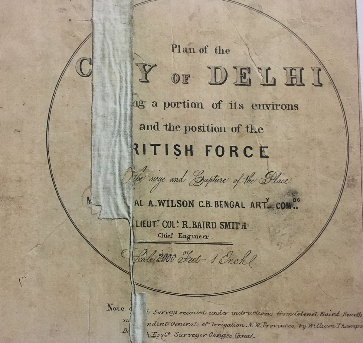 From Plan of City of Delhi, National Archives of India, 1859.