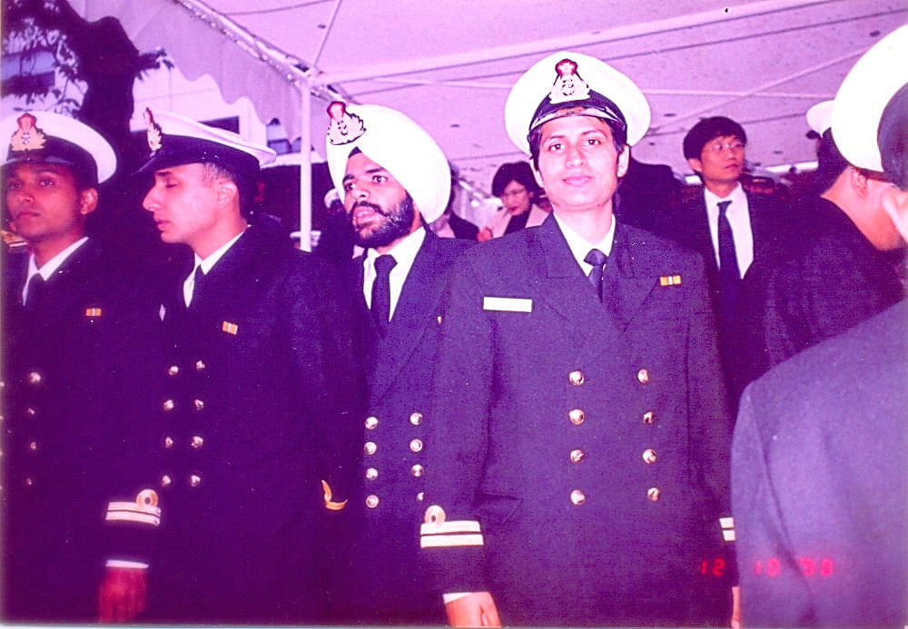Sandhya was among the few women officers to serve on an Indian Naval Warship.