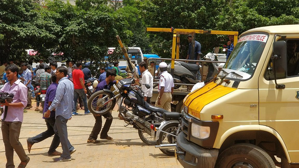 Motorcycles were taken to various traffic police stations.
