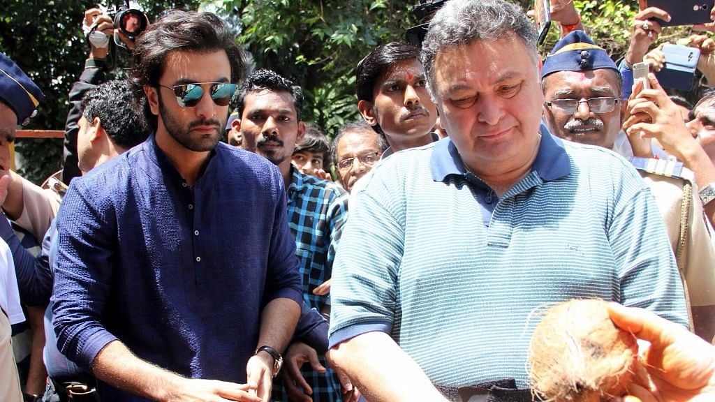 Ranbir and Rishi Kapoor.