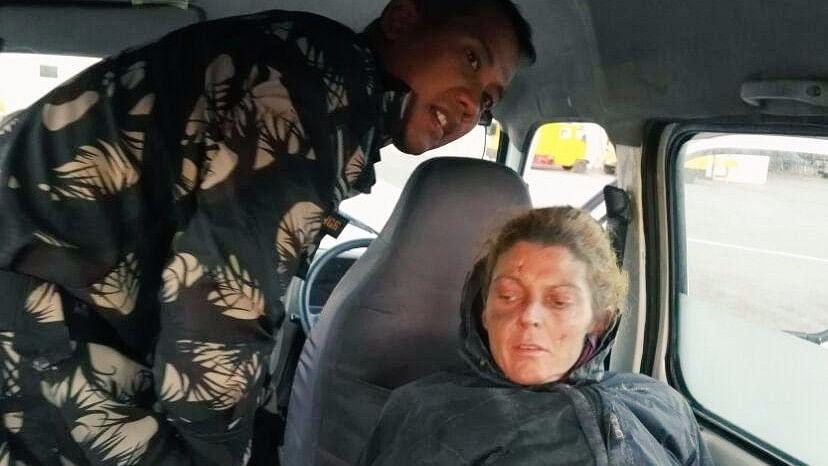 American trekker Margaret Allen Stone rescued by tIhe AF from Ladakh region.
